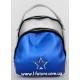 Женская Сумка-Рюкзак Арт. 3002 Цвет Серебро С Синий Вставкой