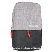 Мужская сумка через плечо Арт. 6117 Цвет Серый С Чёрным