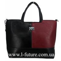 Женская Сумка Арт. 8005-2 Цвет Чёрный-Бордо
