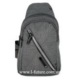 Мужская сумка через плечо Арт. 6293 Цвет Серый