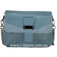 Женский Кожаный Клатч Арт. P 3023 Цвет Голубой