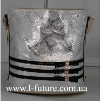 Женская сумка Лазерка Арт. 915-1 Цвет Светлый Беж С Серебром