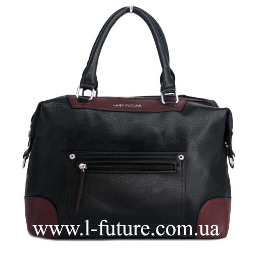 Женская Сумка Арт. 3736-1 Цвет Чёрный С Бордо