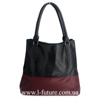 Женская Сумка Арт. 3103 Цвет Чёрный С Бордо