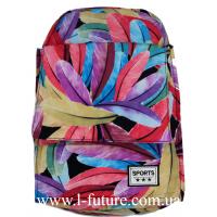 Женский рюкзак Арт. 308 Цвет Яркие Перья