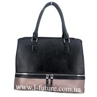 Женская Сумка Арт. F 8304 Цвет Чёрный С Серебром