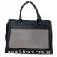 Женская Сумка Арт. L 8185 Цвет Чёрный С Серым