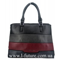 Женская Сумка Арт.F 8140 Цвет Чёрный С Серым