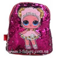 Детский Светящийся Рюкзак Арт. 4102 Цвет Малиновый 1
