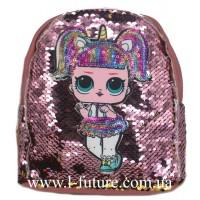 Детский Светящийся Рюкзак Арт. 4102 Цвет Тёмно-Розовый 1