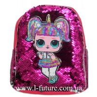 Детский Светящийся Рюкзак Арт. 4102 Цвет Малиновый 3