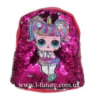 Детский Светящийся Рюкзак Арт. 4101 Цвет Малиновый 1