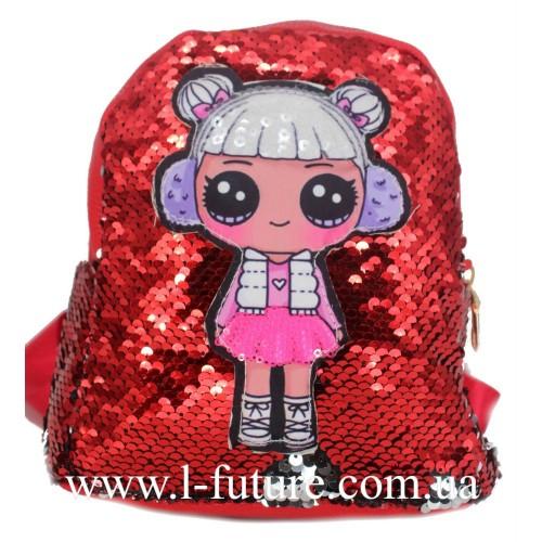 Детский Светящийся Рюкзак Арт. 4101 Цвет Красный