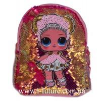 Детский Светящийся Рюкзак Арт. 4101 Цвет Розовый С Золотом 1