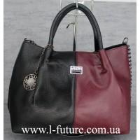 Женская Сумка Арт. F 8024-1 Цвет Чёрный С Бордо