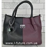 Женская Сумка Арт. F-8024-1 Цвет Чёрный С Бордо