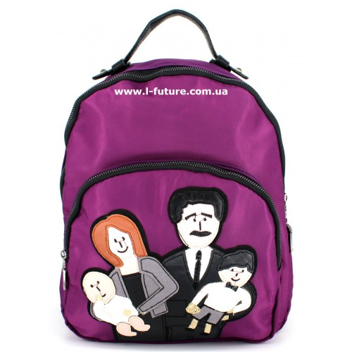 Женский рюкзак Арт. F-01  Цвет Фиолетовый ID-1045