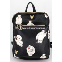 Женскаясумка-рюкзак Арт. F-07 Цвет Чёрный 1