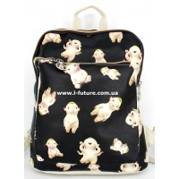 Женская сумка-рюкзак Арт. F-07 Цвет Светлый Беж