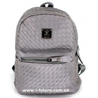 Женский рюкзак Арт. F-06  Цвет Серый