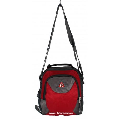 Барсетка Мужская Арт. 007 Цвет Чёрный с красным ID-1379