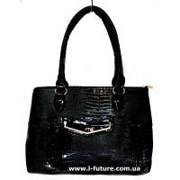 Женская Лаковая Сумка Арт. 8190 Цвет Чёрный