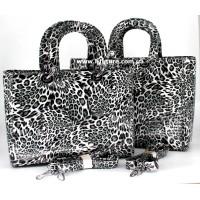 Сумка Женская Арт. 7-6868-5 Цвет Серый Леопард