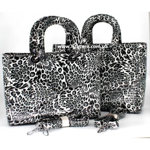 Сумка Женская Арт. 7-6868-5 Цвет Серый Леопард ID-770