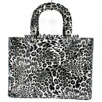 Сумка Женская Арт. 7-6868-5 М Цвет Серый Леопард