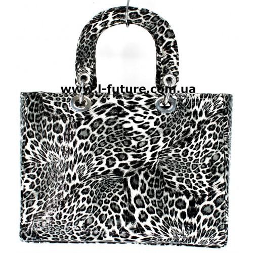 Сумка Женская Арт. 7-6868-5 М Цвет Серый Леопард ID-766