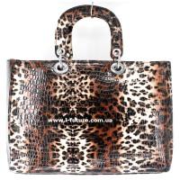 Сумка Женская Арт. 7-6868-5 Б Цвет Коричневый Леопард