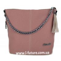 Женская Сумка Арт.838-8 Цвет Светлый Беж С Розовой Вставкой