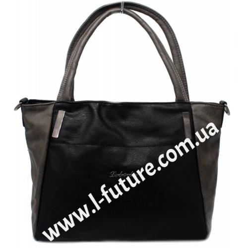 Женская Сумка Арт. 6382 Цвет Чёрный С Коричневым