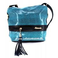 Женская сумка Лазерка Арт. 839 Цвет Бирюза