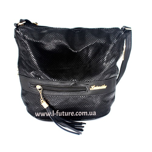 Женская сумка Лазерка Арт. 839 Цвет Чёрный ID-531
