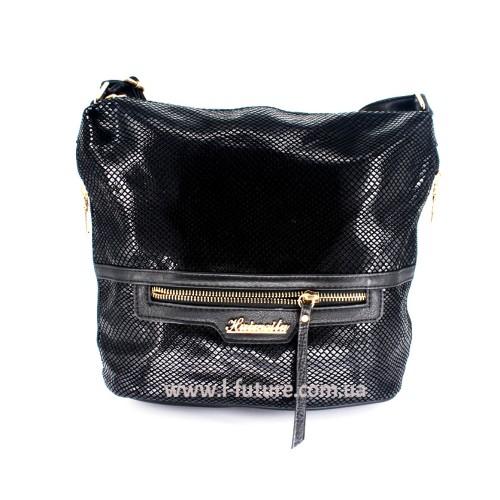 Женская сумка Лазерка Арт. 841 Цвет Чёрный ID-535