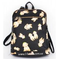 Женская сумка-рюкзак Арт. F-07 Цвет Чёрный 2