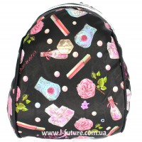 Женский рюкзак Арт. D 618 Цвет Чёрный ( Помадка )