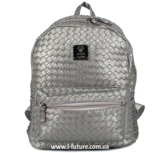 Женский рюкзак Арт. K-035  Цвет Cеребро ID-1833