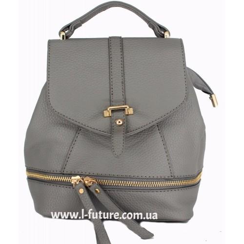 Женская сумка-рюкзак Арт. K-65 Цвет Серый ID-1928
