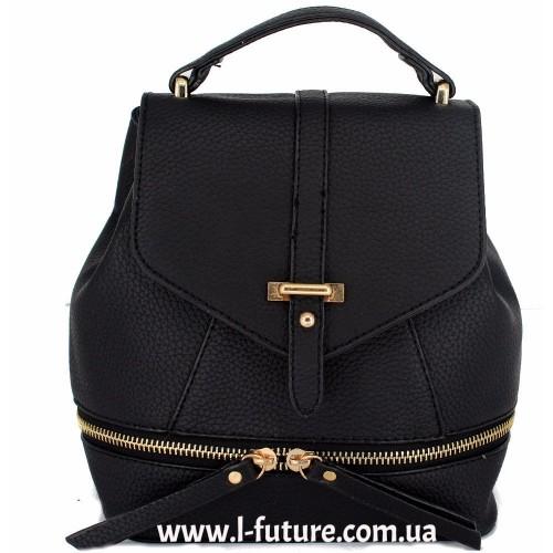Женская сумка-рюкзак Арт. K-65 Цвет Чёрный ID-1929