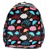 Женский рюкзак Арт. D 618 Цвет Чёрный ( Зонтики)