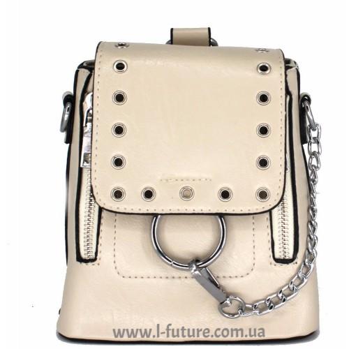 Женская сумка-рюкзак Арт. 6928 Цвет Светлый Беж ID-1964
