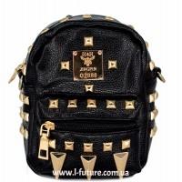 Женская сумка-рюкзак Арт. К-62  Цвет Чёрный