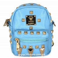 Женская сумка-рюкзак Арт. К-62  Цвет Голубой