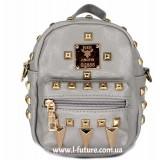 Женская сумка-рюкзак Арт. К-62  Цвет Серый