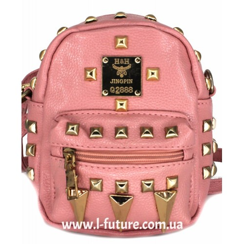 Женская сумка-рюкзак Арт. К-62  Цвет Розовый ID-1971