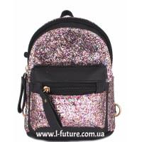 Женская сумка-рюкзак Арт. 202  Цвет Чёрный С Розовым