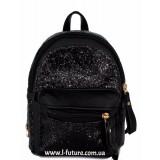 Женская сумка-рюкзак Арт. 202  Цвет Чёрный