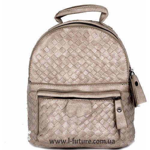 Женская сумка-рюкзак Арт. 1066  Цвет Светлый Беж ID-1983
